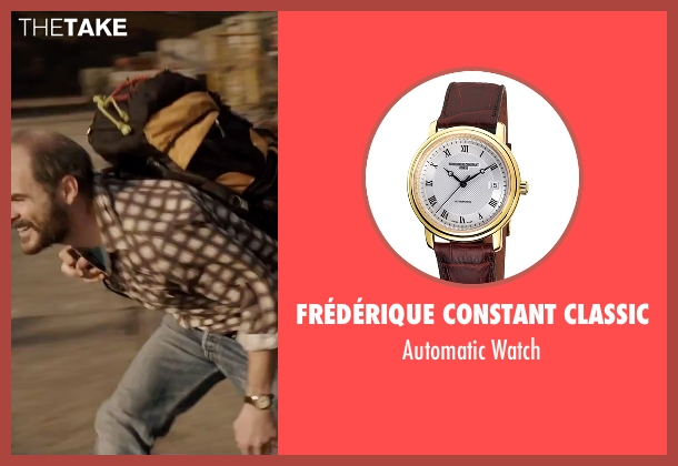 Frédérique Constant Classic brown watch from Everest seen with Michael Kelly (Jon Krakauer)