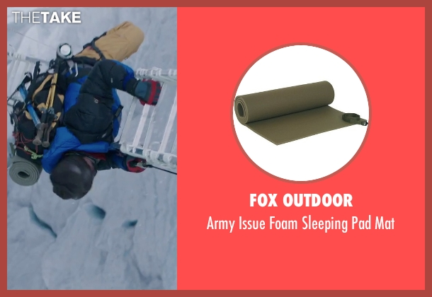 Fox Outdoor mat from Everest seen with Michael Kelly (Jon Krakauer)