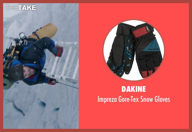 DaKine red gloves from Everest seen with Michael Kelly (Jon Krakauer)