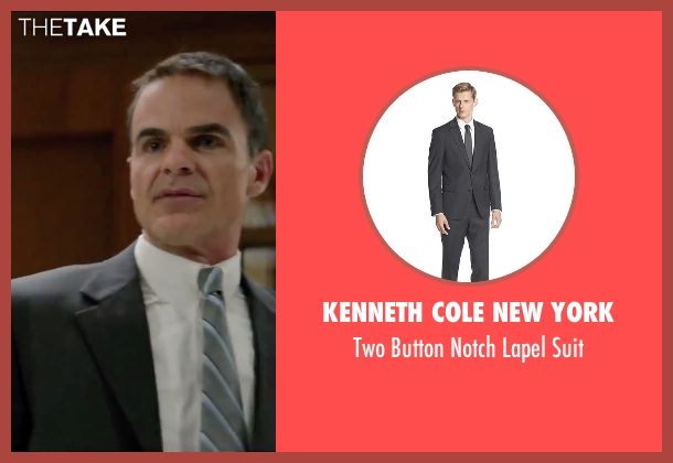 Kenneth Cole New York gray suit from Secret in Their Eyes seen with Michael Kelly (Siefert)