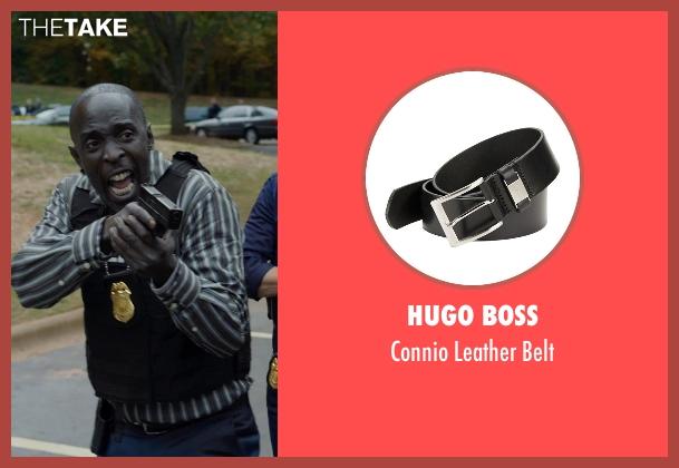 Hugo Boss black belt from Captive seen with Michael Kenneth Williams (Detective John Chestnut)