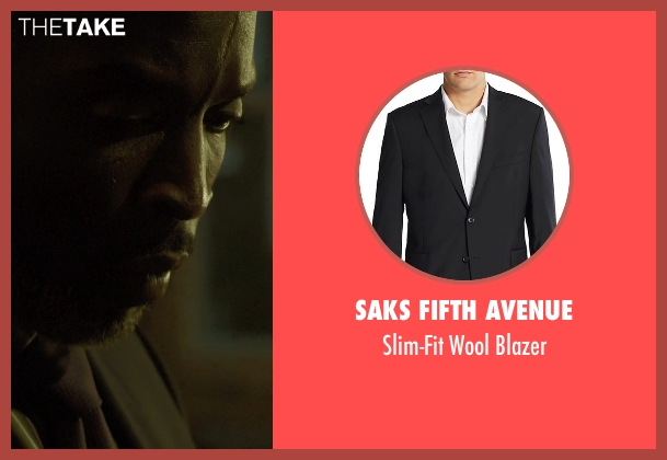 Saks Fifth Avenue black blazer from Captive seen with Michael Kenneth Williams (Detective John Chestnut)