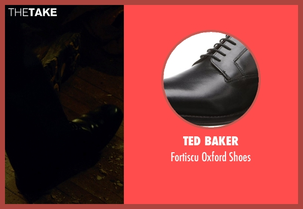 Ted Baker black shoes from Captive seen with Michael Kenneth Williams (Detective John Chestnut)