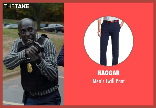 Haggar blue pant from Captive seen with Michael Kenneth Williams (Detective John Chestnut)