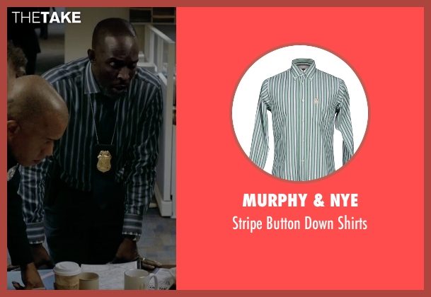 Murphy & Nye green shirts from Captive seen with Michael Kenneth Williams (Detective John Chestnut)