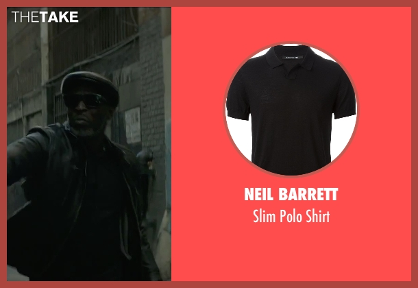Neil Barrett black shirt from The Gambler seen with Michael Kenneth Williams (Neville)
