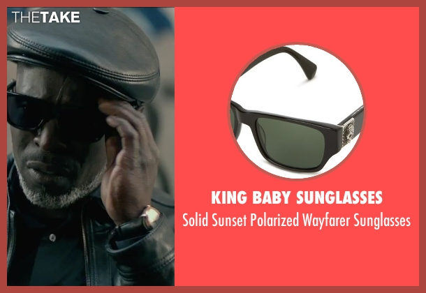 King Baby Sunglasses black sunglasses from The Gambler seen with Michael Kenneth Williams (Neville)