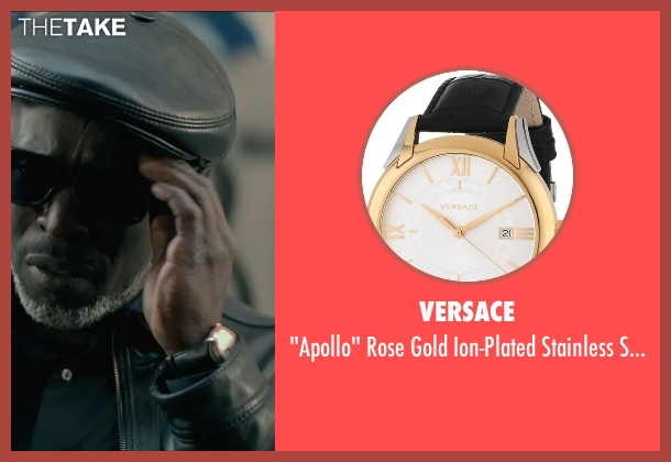 Versace black watch from The Gambler seen with Michael Kenneth Williams (Neville)