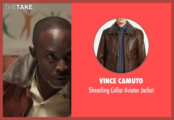 Vince Camuto brown jacket from The Gambler seen with Michael Kenneth Williams (Neville)
