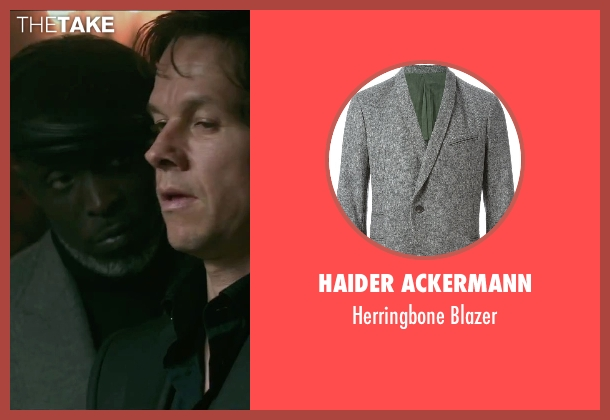 Haider Ackermann gray blazer from The Gambler seen with Michael Kenneth Williams (Neville)