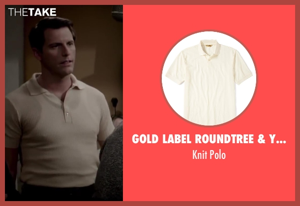 Gold Label Roundtree & Yorke beige polo from Jersey Boys seen with Michael Lomenda (Nick Massi)