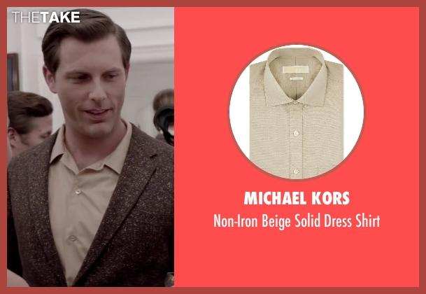 Michael Kors beige shirt from Jersey Boys seen with Michael Lomenda (Nick Massi)