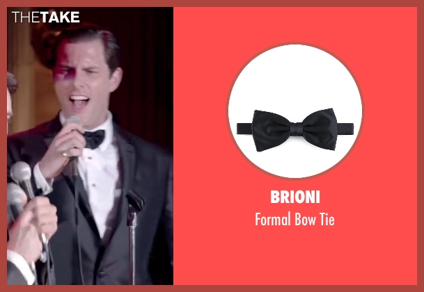 Brioni black tie from Jersey Boys seen with Michael Lomenda (Nick Massi)