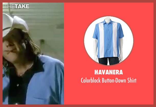 Havanera blue shirt from Kill Bill: Vol. 2 seen with Michael Madsen (Budd)