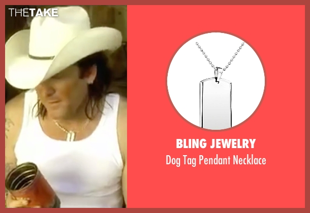 Bling Jewelry silver necklace from Kill Bill: Vol. 2 seen with Michael Madsen (Budd)