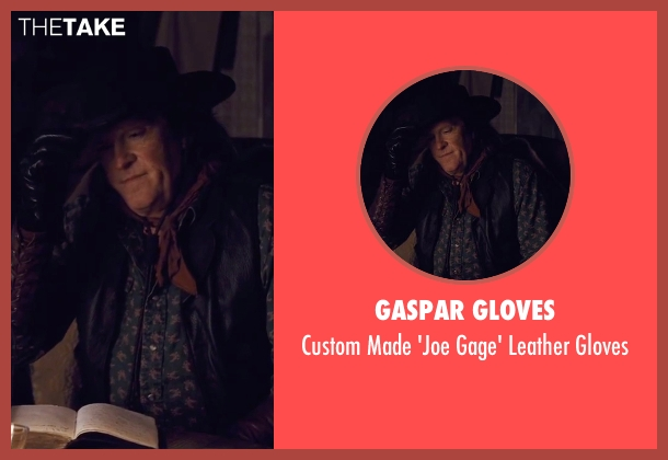 Gaspar Gloves black gloves from The Hateful Eight seen with Michael Madsen (Joe Gage)