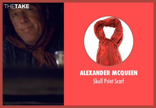 Alexander Mcqueen orange scarf from The Hateful Eight seen with Michael Madsen (Joe Gage)