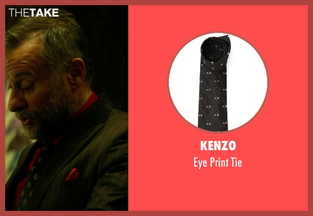 Kenzo black tie from John Wick seen with Michael Nyqvist (Viggo Tarasov)