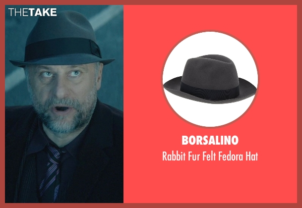 Borsalino gray hat from John Wick seen with Michael Nyqvist (Viggo Tarasov)