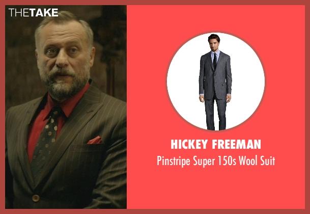 Hickey Freeman gray suit from John Wick seen with Michael Nyqvist (Viggo Tarasov)