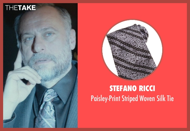 Stefano Ricci gray tie from John Wick seen with Michael Nyqvist (Viggo Tarasov)