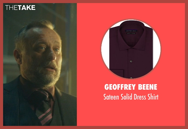 Geoffrey Beene purple shirt from John Wick seen with Michael Nyqvist (Viggo Tarasov)