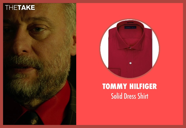 Tommy Hilfiger red shirt from John Wick seen with Michael Nyqvist (Viggo Tarasov)