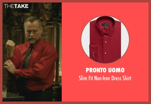 Pronto Uomo red shirt from John Wick seen with Michael Nyqvist (Viggo Tarasov)