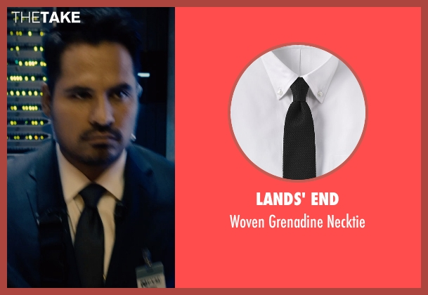 Lands' End black necktie from Ant-Man seen with Michael Peña (Luis)
