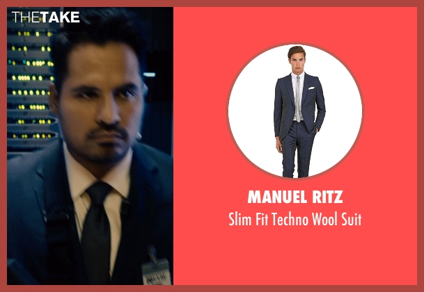 Manuel Ritz blue suit from Ant-Man seen with Michael Peña (Luis)