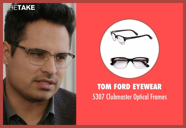 Tom Ford Eyewear frames from Collateral Beauty seen with Michael Peña (Simon Scott)