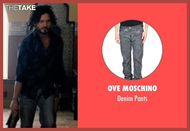 Ove Moschino gray pants from Hot Pursuit seen with Michael Ray Escamilla (Angel)