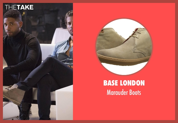 Base London beige boots from Empire seen with Michael Sanchez (Rafael de la Fuente)
