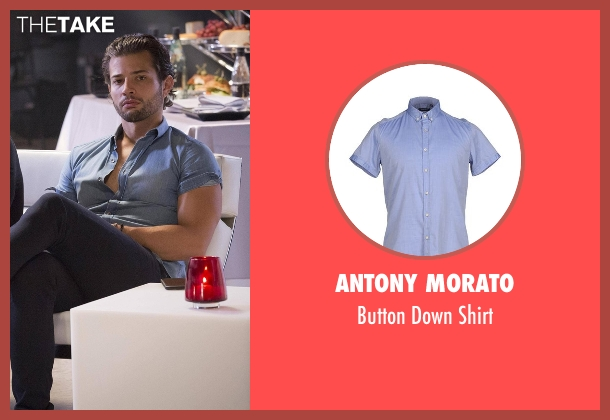 Antony Morato blue shirt from Empire seen with Michael Sanchez (Rafael de la Fuente)