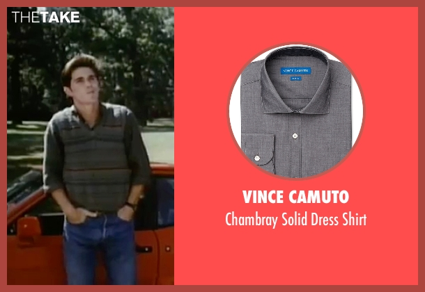 Vince Camuto gray shirt from Sixteen Candles seen with Michael Schoeffling (Jake Ryan)