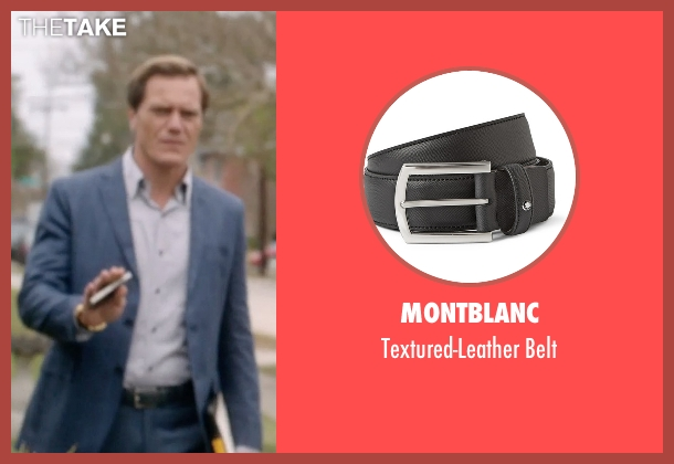 Montblanc black belt from 99 Homes seen with Michael Shannon (Rick Carver)