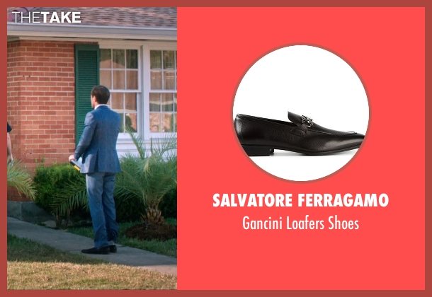 Salvatore Ferragamo black shoes from 99 Homes seen with Michael Shannon (Rick Carver)