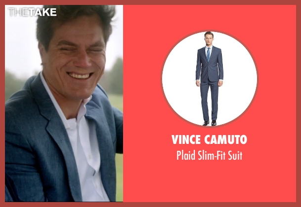 Vince Camuto blue suit from 99 Homes seen with Michael Shannon (Rick Carver)