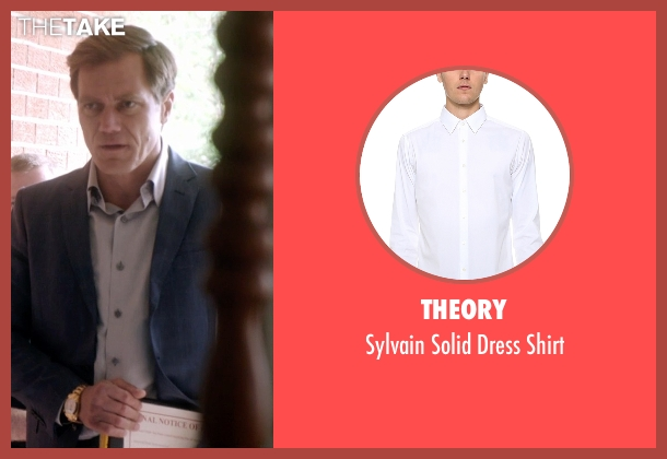 Theory white shirt from 99 Homes seen with Michael Shannon (Rick Carver)