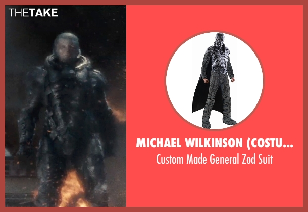 Michael Wilkinson (Costume Designer) suit from Man of Steel seen with Michael Shannon (General Zod)