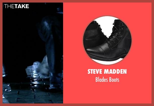 Steve Madden black boots from Underworld seen with Michael Sheen (Lucian)