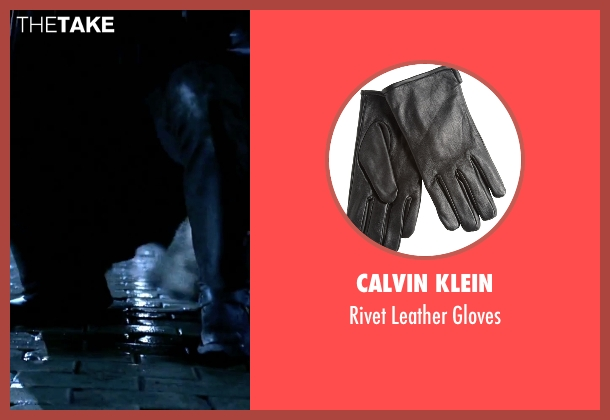 Calvin Klein black gloves from Underworld seen with Michael Sheen (Lucian)