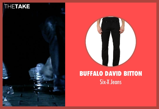 Buffalo David Bitton black jeans from Underworld seen with Michael Sheen (Lucian)
