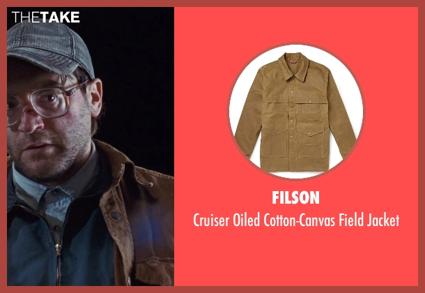 Filson brown jacket from Cut Bank seen with Michael Stuhlbarg (Derby Milton)