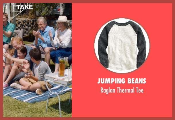 Jumping Beans white tee from And So It Goes seen with Michael Terra (Peter)