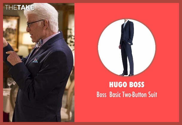 Hugo Boss blue suit from The Good Place seen with Michael (Ted Danson)