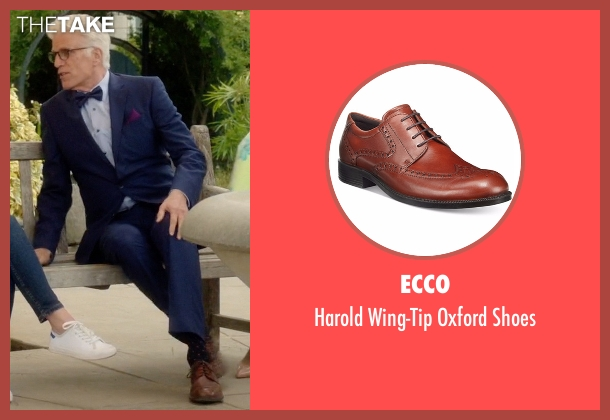 Ecco brown shoes from The Good Place seen with Michael (Ted Danson)