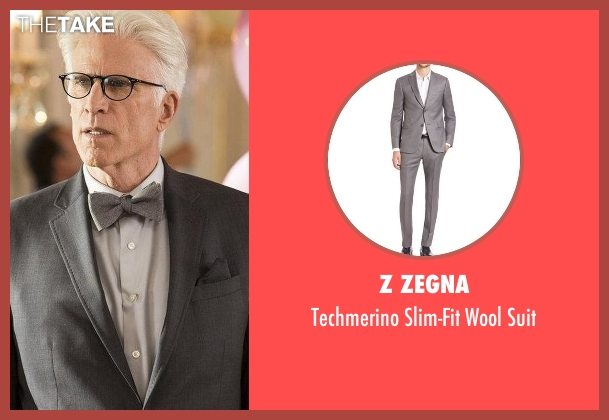 Z Zegna gray suit from The Good Place seen with Michael (Ted Danson)