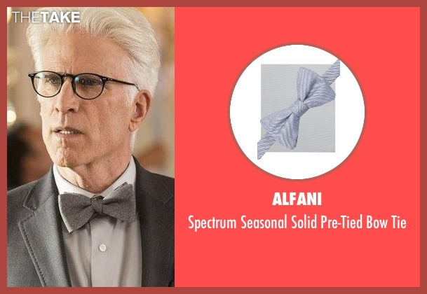 Alfani gray tie from The Good Place seen with Michael (Ted Danson)