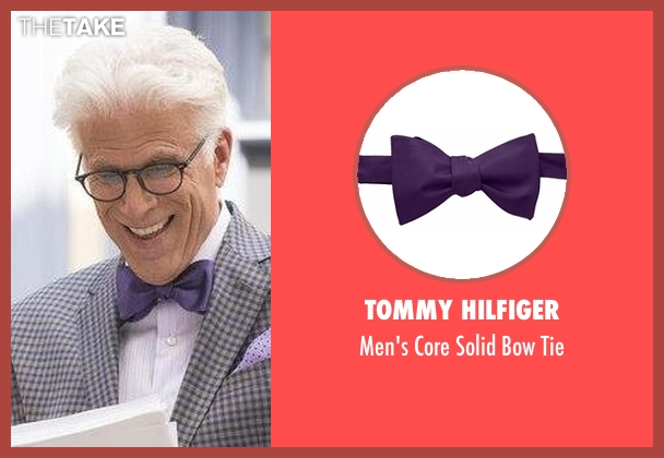 Tommy Hilfiger purple tie from The Good Place seen with Michael (Ted Danson)
